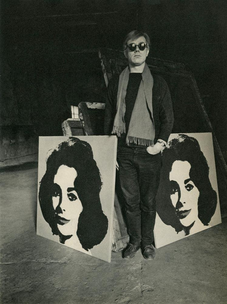 619: EVELYN HOFER - Andy Warhol with His Painting of