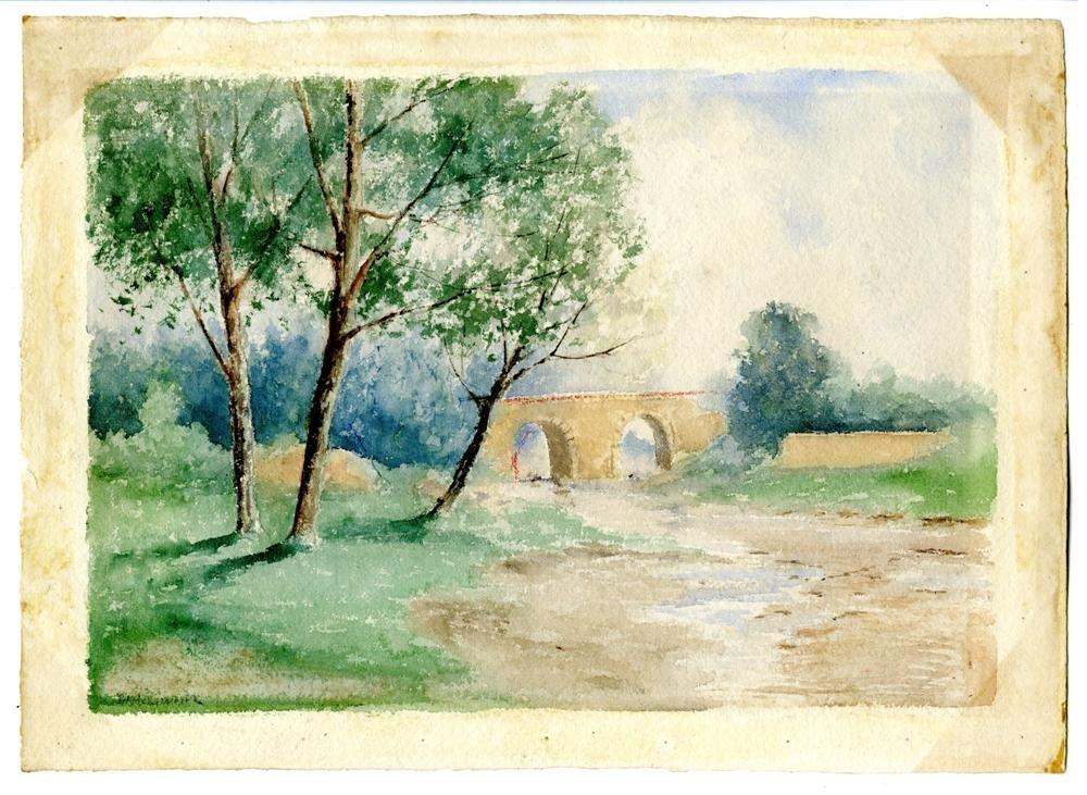 622: JULIAN ALDEN WEIR - Arches in the Forest