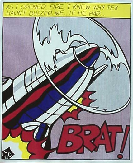 623: ROY LICHTENSTEIN - As I Opened Fire [later