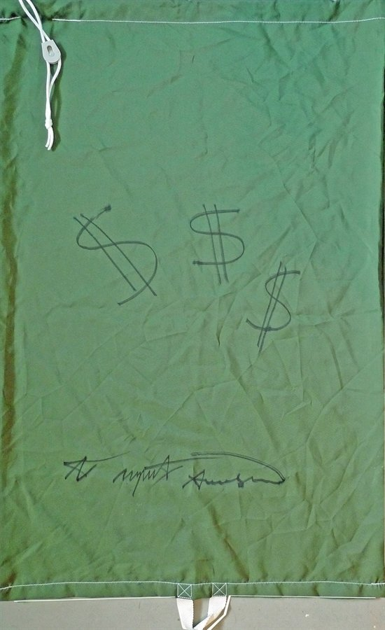 891: ANDY WARHOL - Laundry Bag Dollar Signs