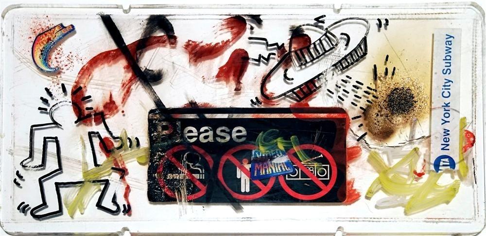 1078: KEITH HARING - Subway drawings: UFO [and] Dancing