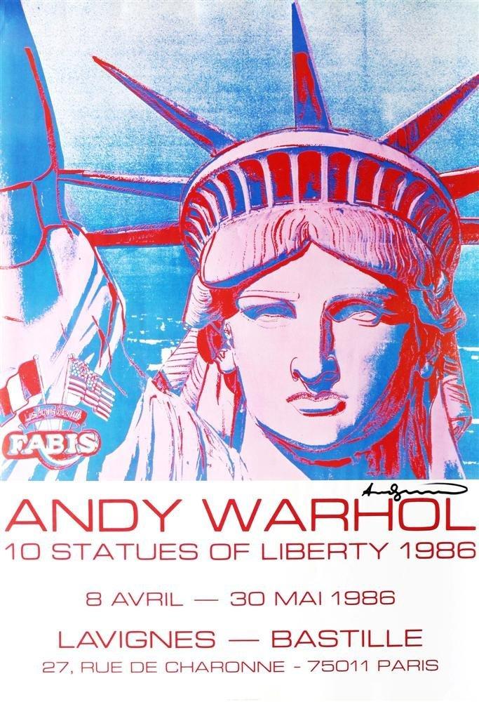 1201: ANDY WARHOL - 10 Statues of Liberty