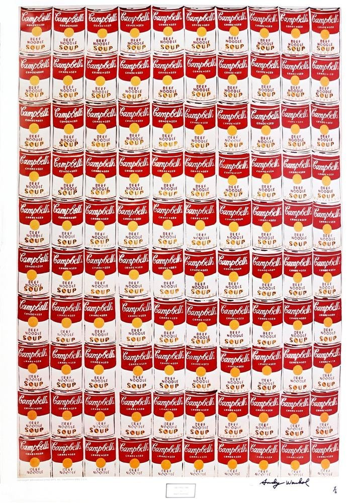 1202: ANDY WARHOL - 100 Cans