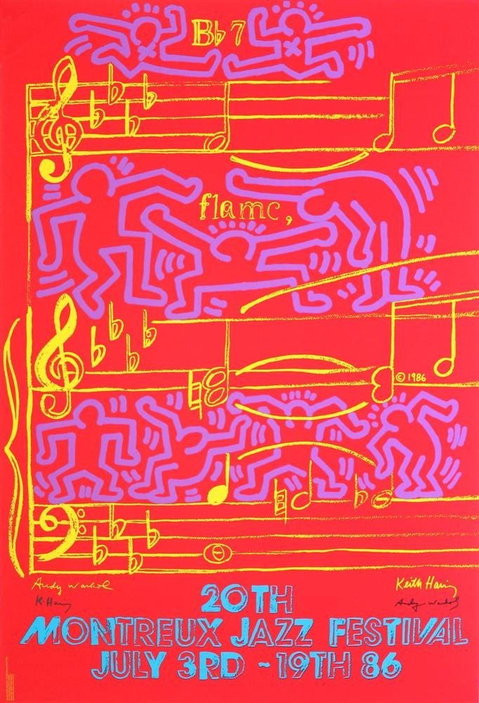 1203: KEITH HARING & ANDY WARHOL - 20th Montreux Jazz