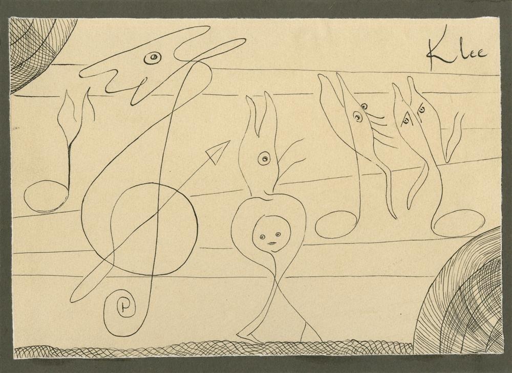 1209: PAUL KLEE [par/imputee] - Abstrakte zeichnung