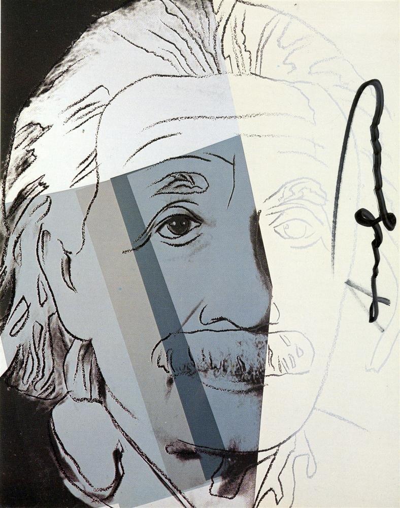 1216: ANDY WARHOL - Albert Einstein