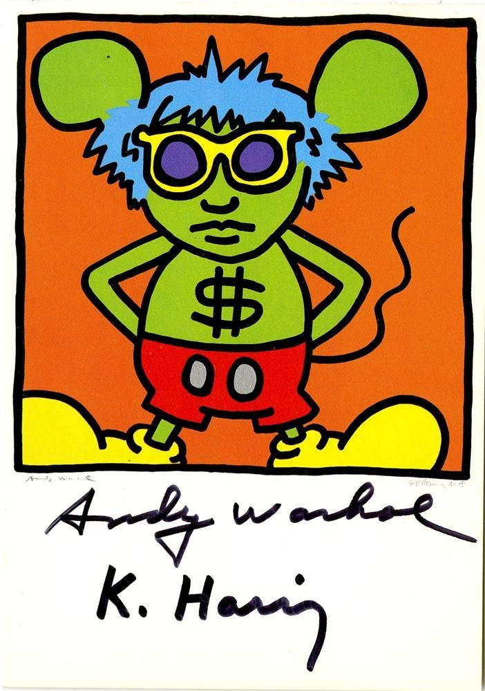 1219: KEITH HARING & ANDY WARHOL - Andy Mouse I, Homage