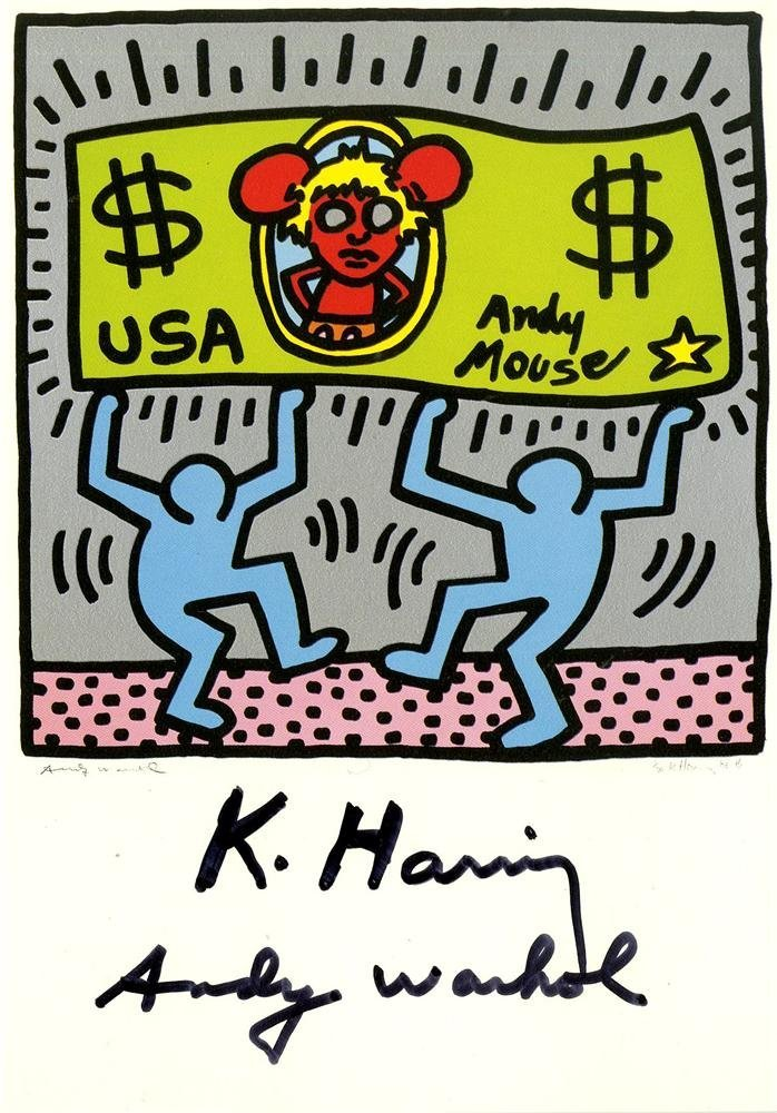 1220: ANDY WARHOL & KEITH HARING - Andy Mouse II,