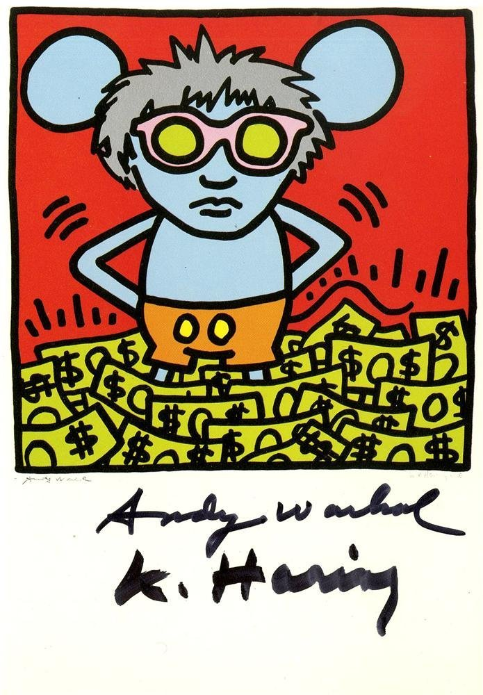 1221: ANDY WARHOL & KEITH HARING - Andy Mouse III,