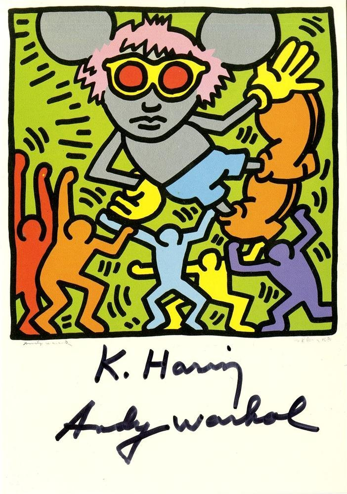 1222: KEITH HARING & ANDY WARHOL - Andy Mouse IV,