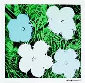 1365 ANDY WARHOL  Flowers Blue  Green