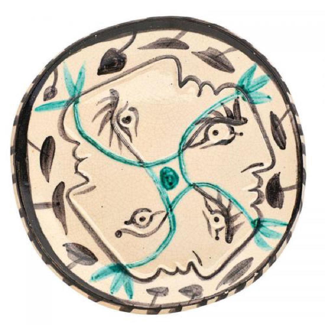 104: PABLO PICASSO - Ceramic: Quatre profiles enlaces