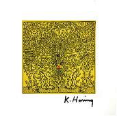 1165: KEITH HARING - Untitled 1985 (Red X)