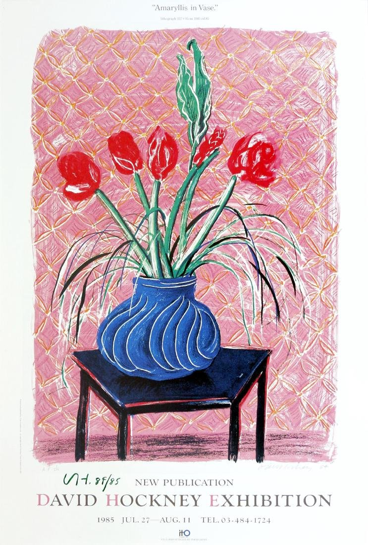 1212: DAVID HOCKNEY - Amaryllis in Vase