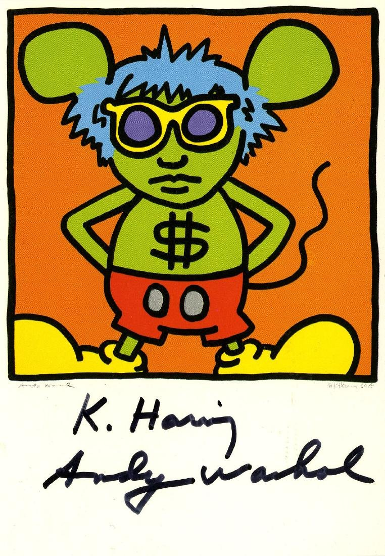 1214: ANDY WARHOL & KEITH HARING - Andy Mouse I, Homage