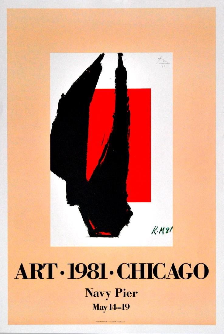 1224: ROBERT MOTHERWELL - Art 1981 Chicago