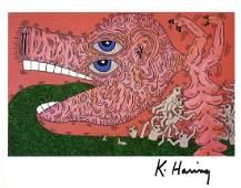 1770: KEITH HARING - Untitled 1984 (Nursing)