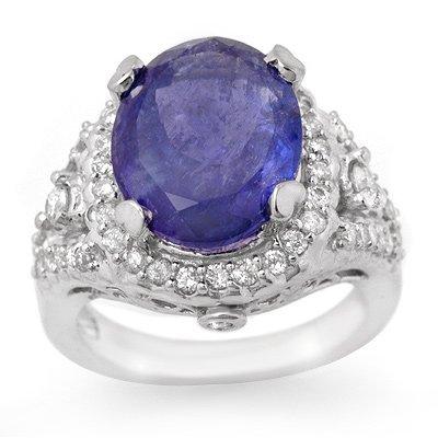 Famous 8.15ct Certified Diamond Tanzanite 14K Gold Ring