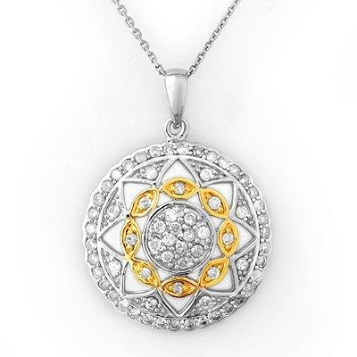 Bridal 1.25ctw ACA Certified Diamond Necklace 14K Gold