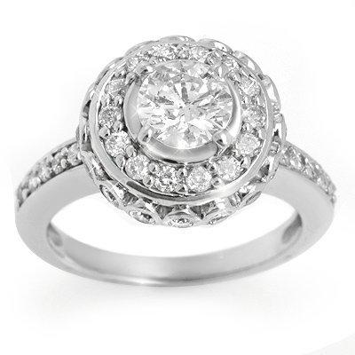 Bridal 2.04ctw Certified Diamond Anniversary Ring Gold