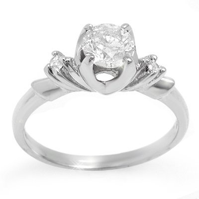 Solitaire 0.75ctw ACA Certified Diamond Ring 14K Gold