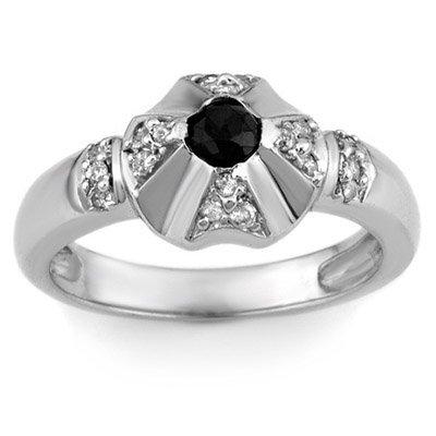 Fine 0.50ct ACA Certified White & Black Diamond Ring