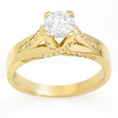 Solitaire 1.18ctw ACA Certified Diamond Ring 14K Gold