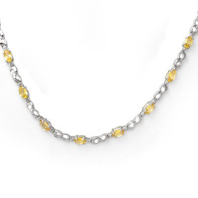 Necklace 9.02ctw Certified Diamond & Yellow Sapphire