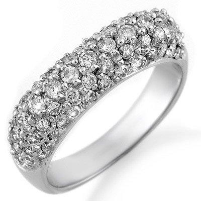 Famous Brand 1.25ct Diamond Band 14K White Gold