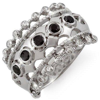Fine 0.75ctw ACA Certified White & Black Diamond Ring