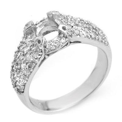 Anniversary 0.75ct ACA Certified Diamond Semi-Ring Gold