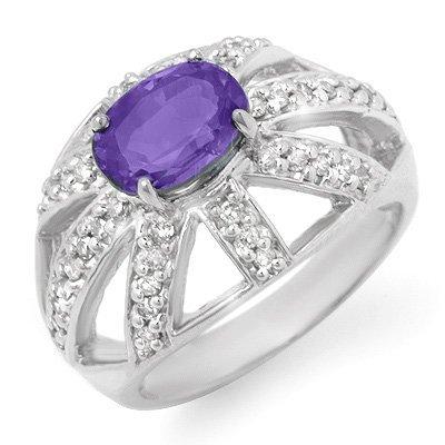 Fine 1.8ctw ACA Certified Diamond & Tanzanite Ring Gold