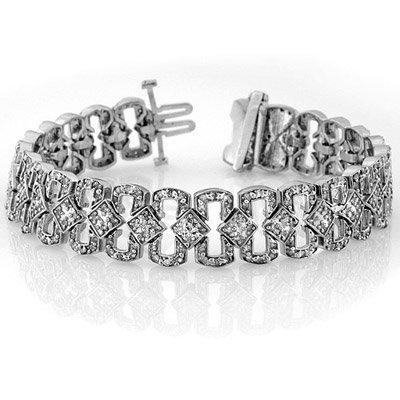 Bracelet 3.0ctw ACA Certified Diamond White Gold 14K