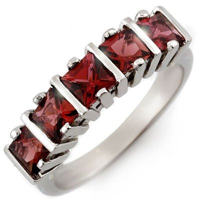 Fine 1.50ctw ACA Certified Pink Tourmaline Ring Gold