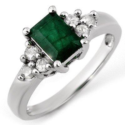 Fine 1.36ctw Diamond & Emerald Ring