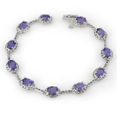 Bracelet 11.40ctw ACA Certified Diamond & Tanzanite