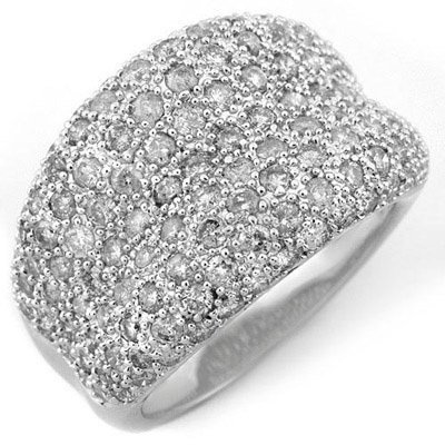 Fine 2.00ctw ACA Certified Diamond Band 14K White Gold