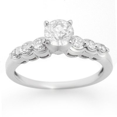 Bridal 1.0ctw Certified Diamond Anniversary Ring Gold