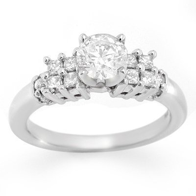 Solitaire 1.20ctw ACA Certified Diamond Ring 14K Gold
