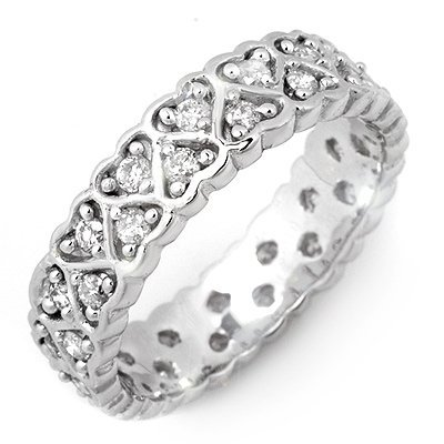 ACA Certified 1.0ctw Diamond Eternity Band White Gold