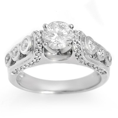 Solitaire 1.75ctw ACA Certified Diamond Bridal Ring