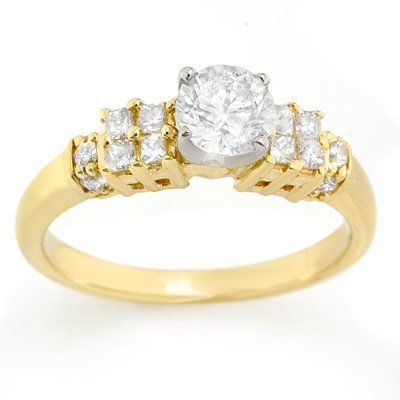 Solitaire 1.00ctw ACA Certified Diamond Ring 14K Gold