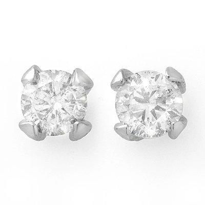 ACA Certified 1.0ctw Diamond Stud Earrings 14K W Gold