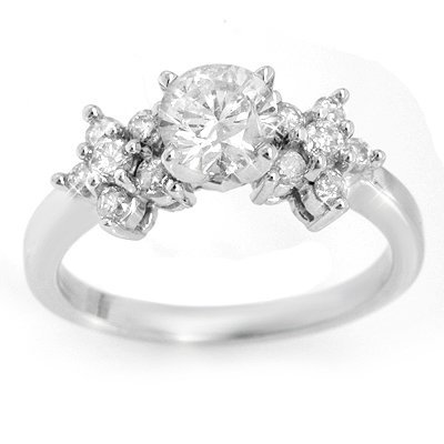 Solitaire 1.25ctw ACA Certified Diamond Ring 14K Gold