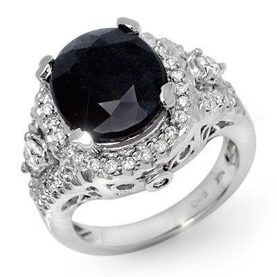 Famous 8.65ct Certified Diamond Sapphire Ring 14K Gold