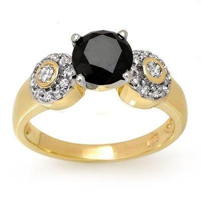 Certified 1.90ctw White & Black Diamond Ring 14K Gold
