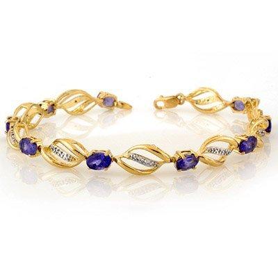 Bracelet 5.60ctw Certified Diamond & Tanzanite Bracelet