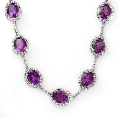 Fine 36.0ctw ACA Certified Diamond & Amethyst Necklace
