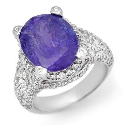 Fine 9.5ctw ACA Certified Diamond & Tanzanite Ring Gold