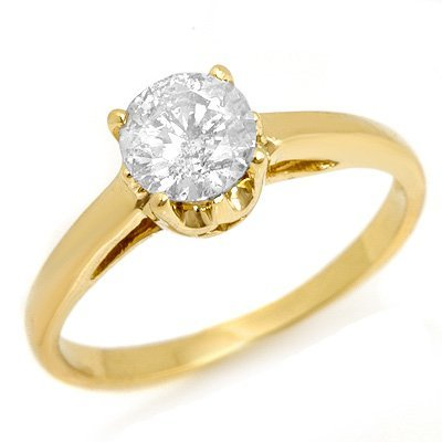Solitaire 0.80ctw ACA Certified Diamond Ring 14K Gold